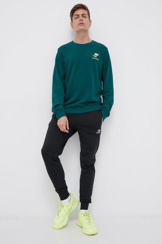 New Balance - Bluza bawełniana ciemny zielony
