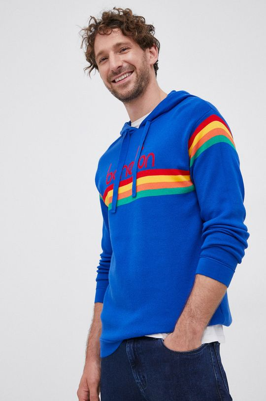 niebieski United Colors of Benetton - Sweter Męski