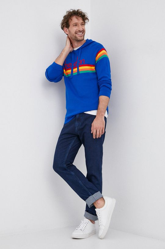 United Colors of Benetton - Sweter niebieski