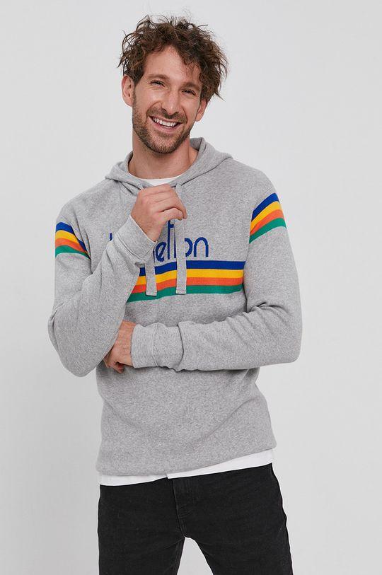 gri deschis United Colors of Benetton - Pulover De bărbați