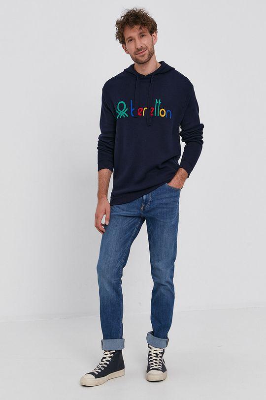 granatowy United Colors of Benetton - Sweter Męski