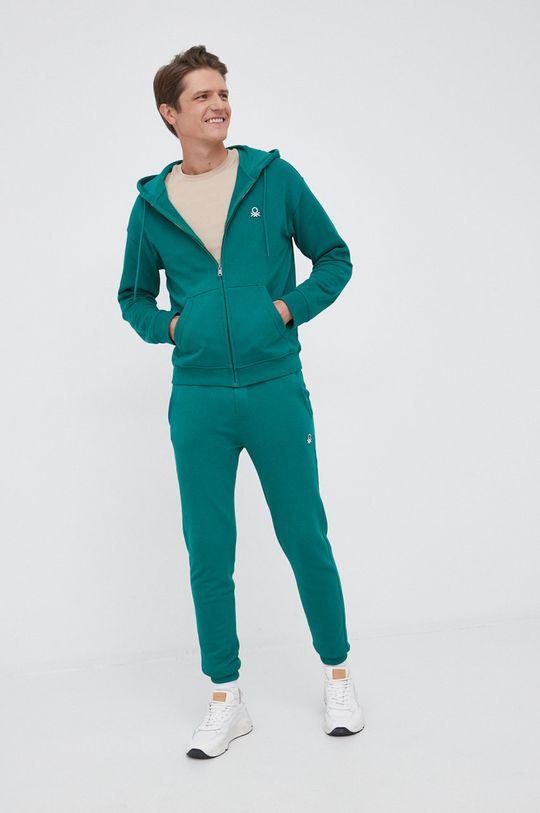 United Colors of Benetton - Bluza bawełniana zielony
