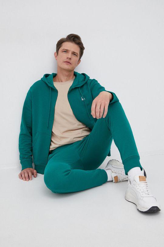 zielony United Colors of Benetton - Bluza bawełniana
