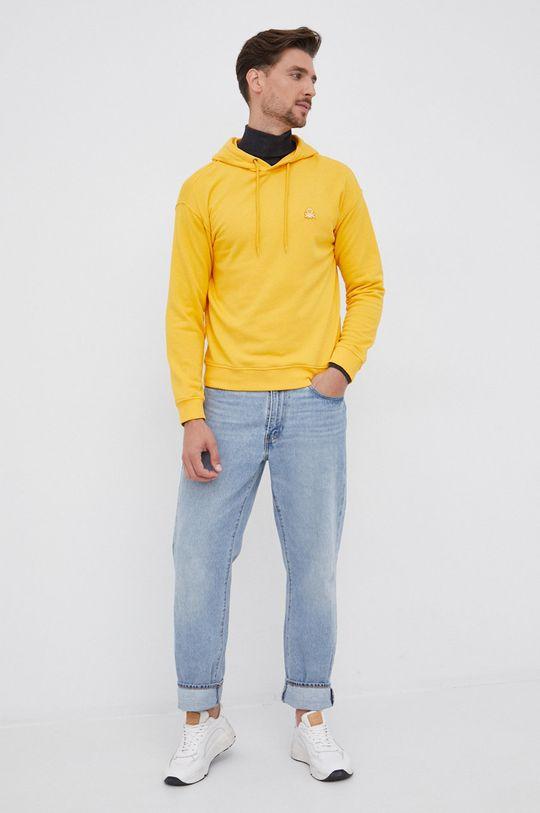 United Colors of Benetton - Bluza bawełniana pomarańczowy