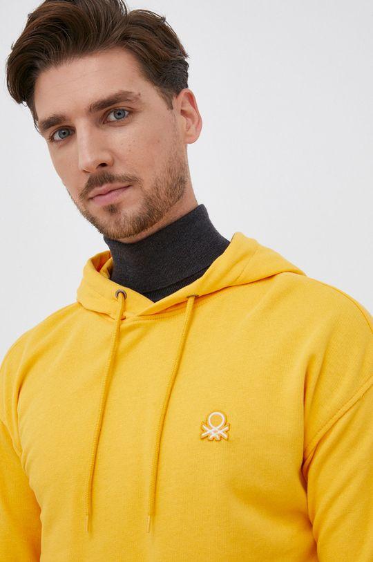 pomarańczowy United Colors of Benetton - Bluza bawełniana