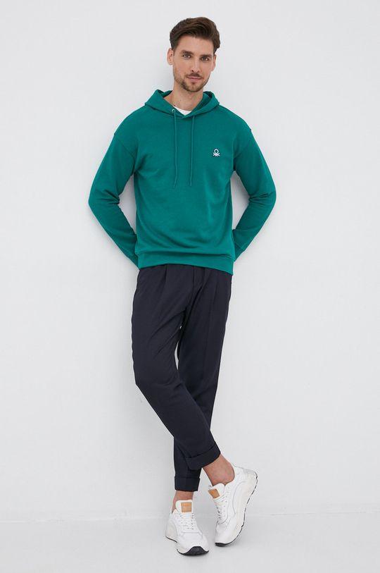 United Colors of Benetton - Βαμβακερή μπλούζα πράσινο