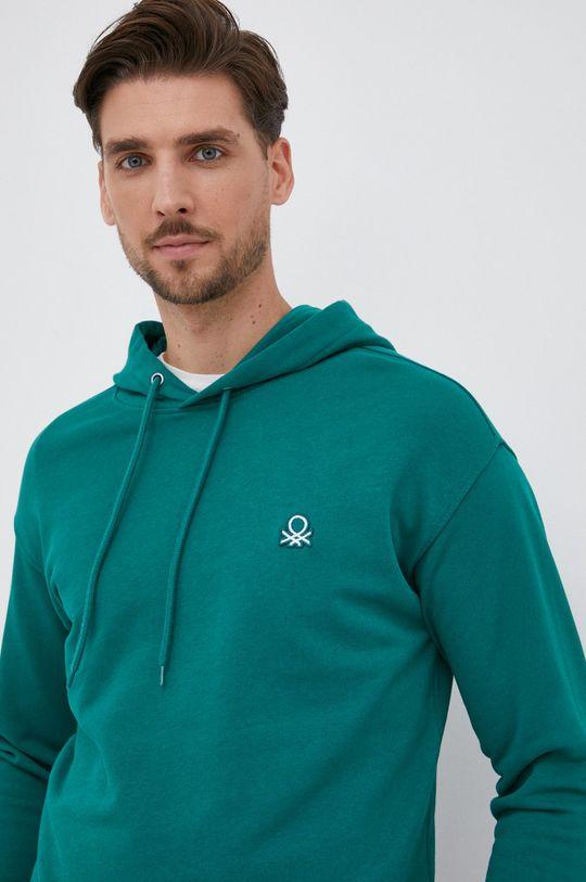 πράσινο United Colors of Benetton - Βαμβακερή μπλούζα