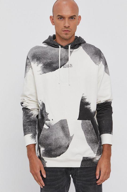 AllSaints - Bluza bawełniana jasny szary