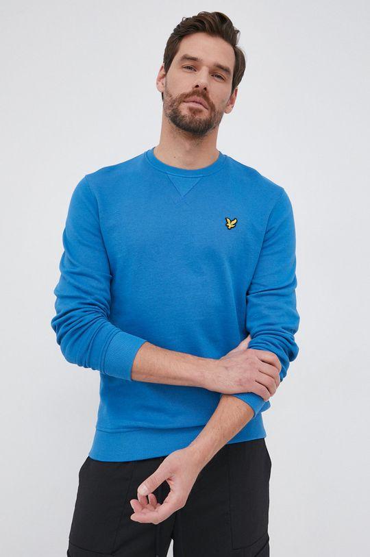 μπλε Lyle & Scott - Βαμβακερή μπλούζα Ανδρικά