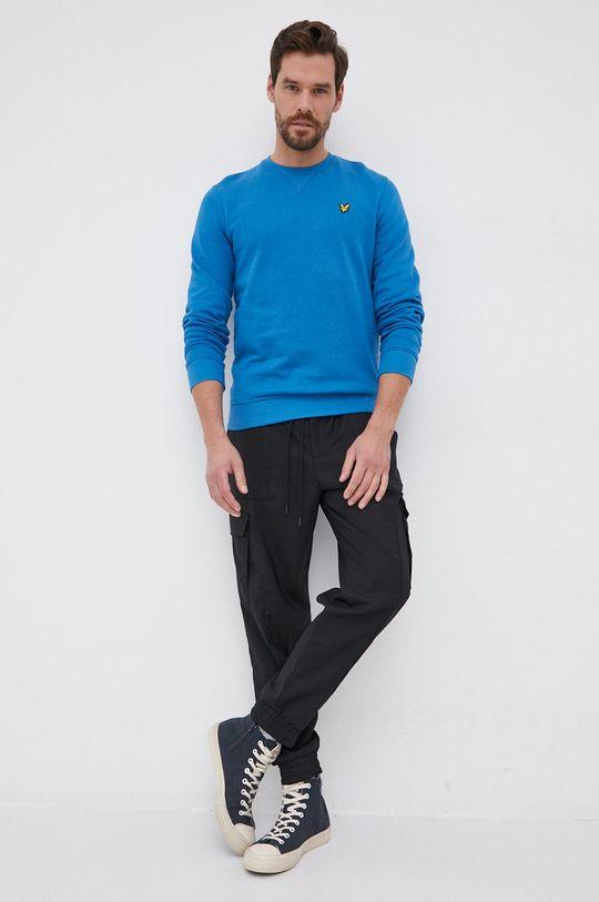 Lyle & Scott - Βαμβακερή μπλούζα μπλε