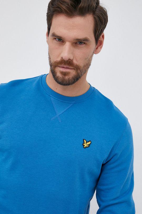 μπλε Lyle & Scott - Βαμβακερή μπλούζα