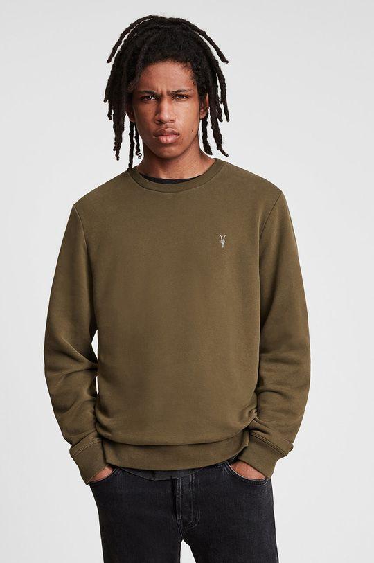 brązowy AllSaints - Bluza bawełniana Męski