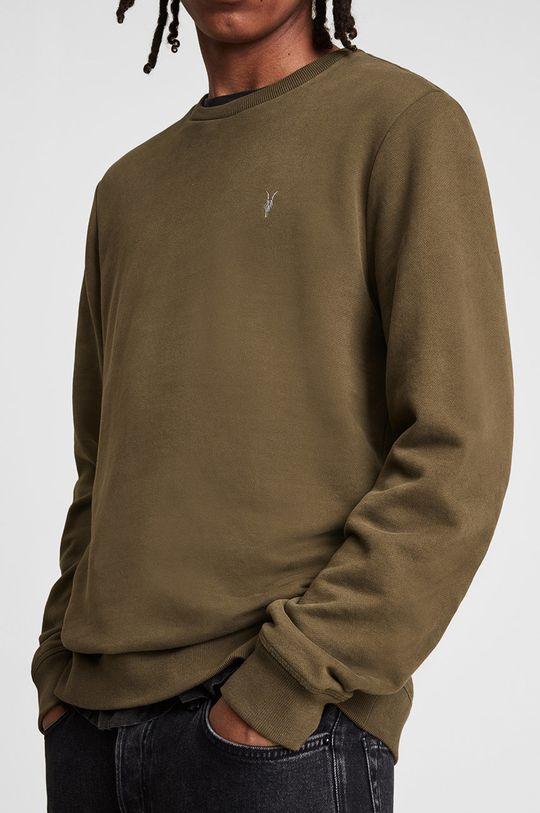 AllSaints - Bluza bawełniana brązowy