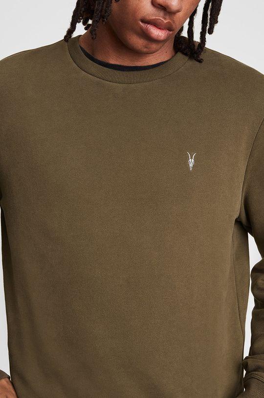 brązowy AllSaints - Bluza bawełniana