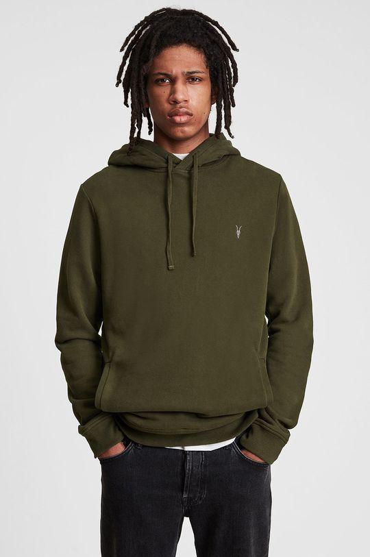 brązowa zieleń AllSaints - Bluza bawełniana Męski