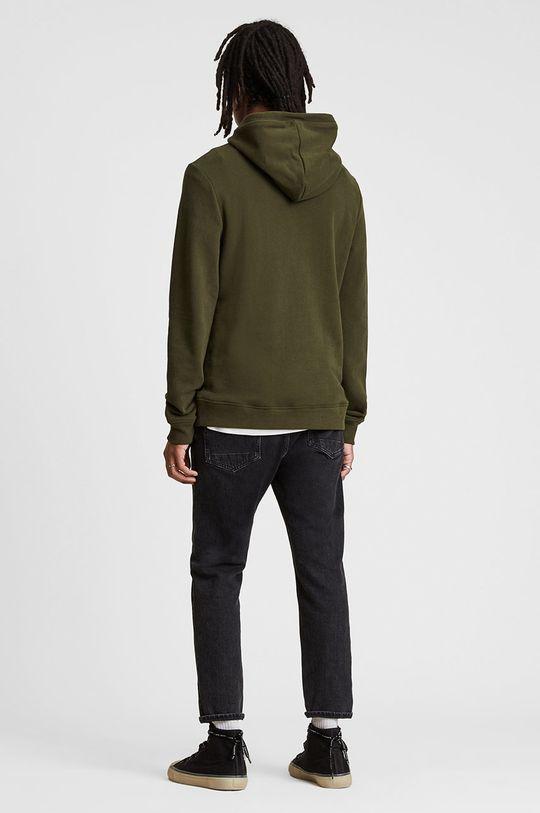 brązowa zieleń AllSaints - Bluza bawełniana