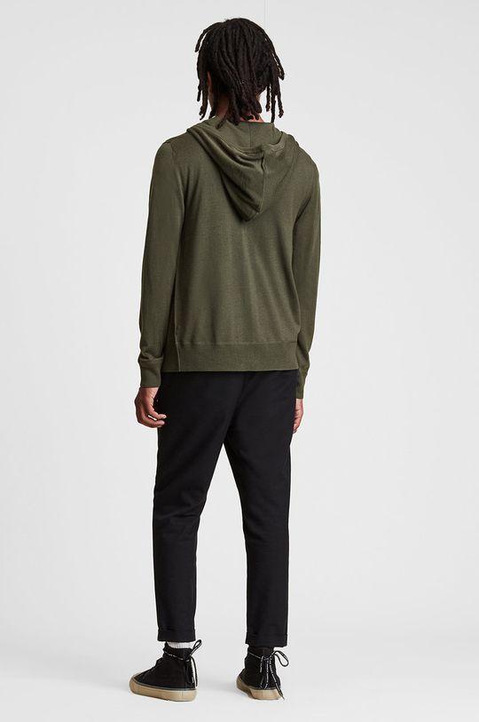 brązowa zieleń AllSaints - Bluza