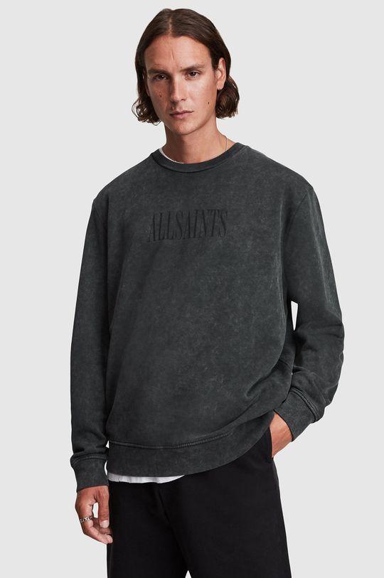 czarny AllSaints - Bluza bawełniana Męski