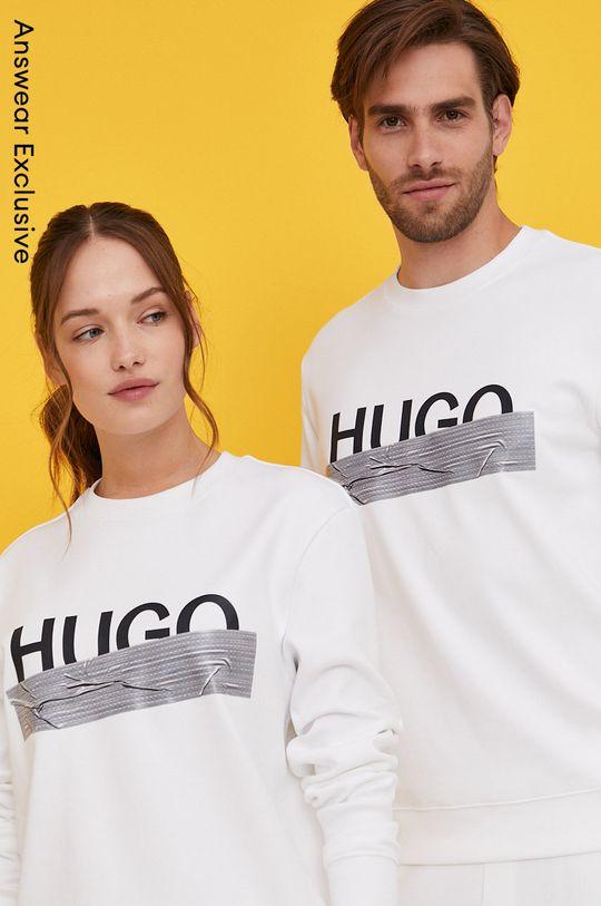 biały Hugo - Bluza bawełniana z kolekcji urodzinowej Unisex