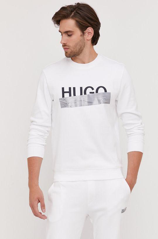 Hugo - Bavlnená mikina z narodeninovej kolekcie biela