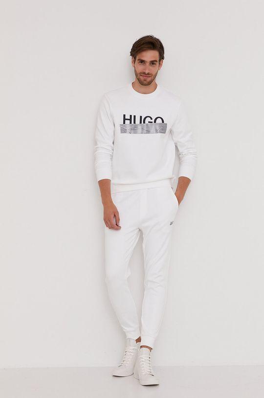 biela Hugo - Bavlnená mikina z narodeninovej kolekcie