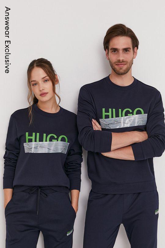 granatowy Hugo - Bluza bawełniana z kolekcji urodzinowej Unisex