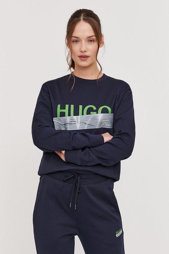 Hugo - Bluza bawełniana z kolekcji urodzinowej granatowy
