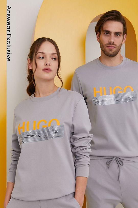 szary Hugo - Bluza bawełniana z kolekcji urodzinowej Unisex