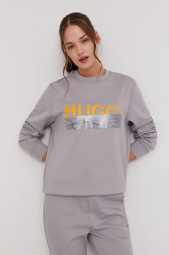 Hugo - Bluza bawełniana z kolekcji urodzinowej szary