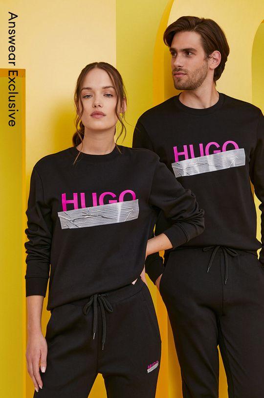 czarny Hugo - Bluza bawełniana z kolekcji urodzinowej Unisex