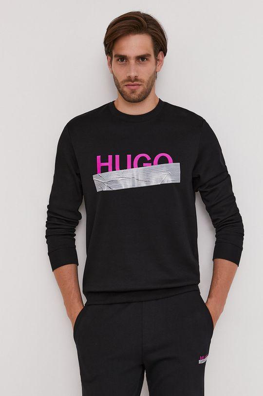 Hugo - Bavlnená mikina z narodeninovej kolekcie čierna