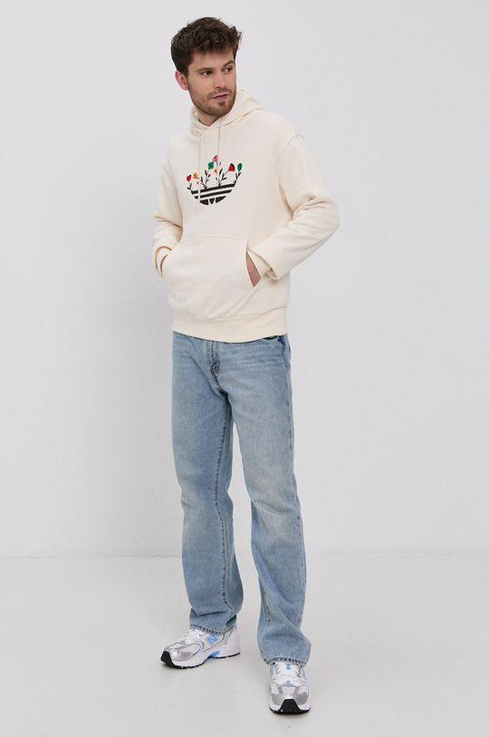 adidas Originals - Bluza bawełniana kremowy