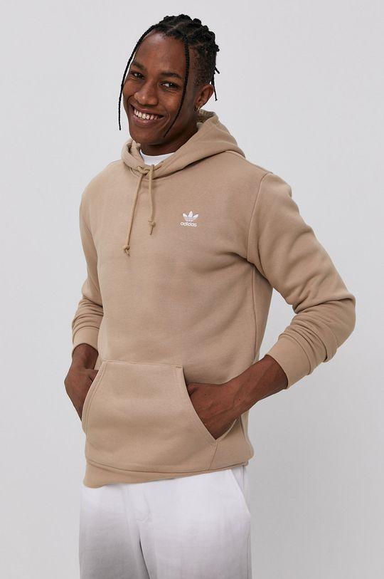 kawowy adidas Originals - Bluza