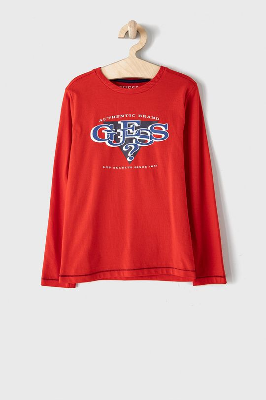 červená Guess - Dětské tričko s dlouhým rukávem Chlapecký