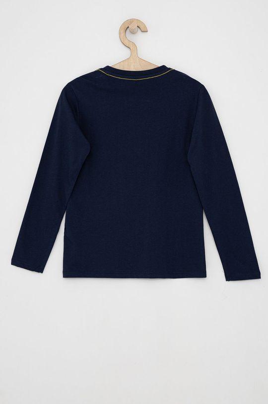 Guess - Dětské tričko s dlouhým rukávem námořnická modř