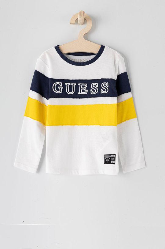 bílá Guess - Dětské tričko s dlouhým rukávem 92-122 cm Chlapecký