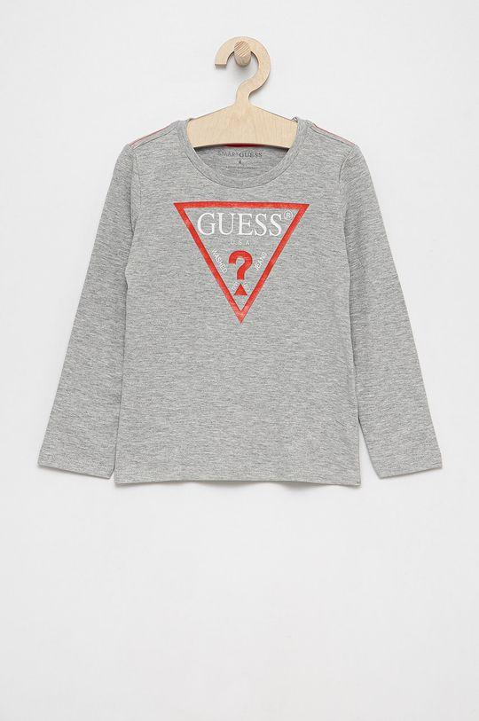 světle šedá Guess - Dětské tričko s dlouhým rukávem Chlapecký