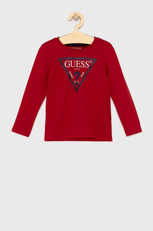 czerwony Guess - Longsleeve dziecięcy Chłopięcy