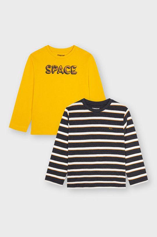 żółty Mayoral - Longsleeve dziecięcy (2-Pack) Chłopięcy