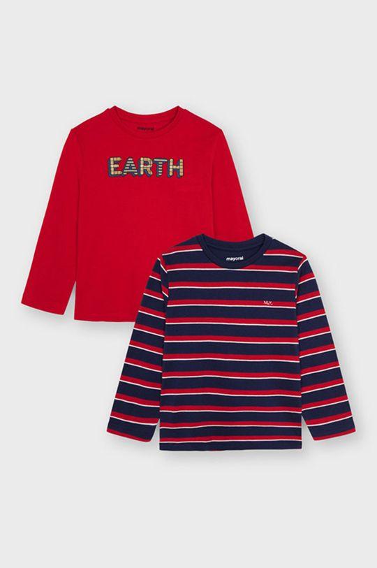 ostry czerwony Mayoral - Longsleeve dziecięcy (2-Pack) Chłopięcy