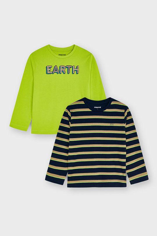 Mayoral - Longsleeve dziecięcy (2-Pack) żółto - zielony