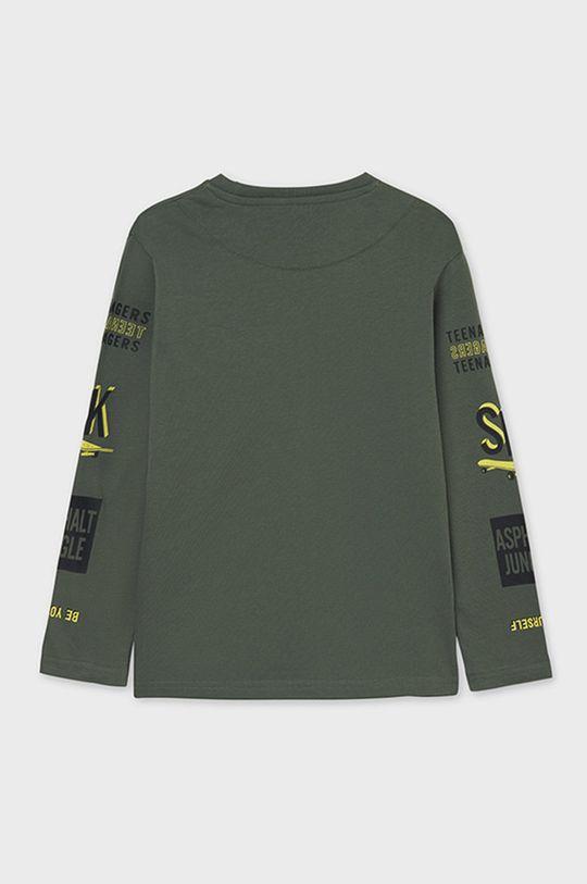 Mayoral - Detské tričko s dlhým rukávom hnedozelená
