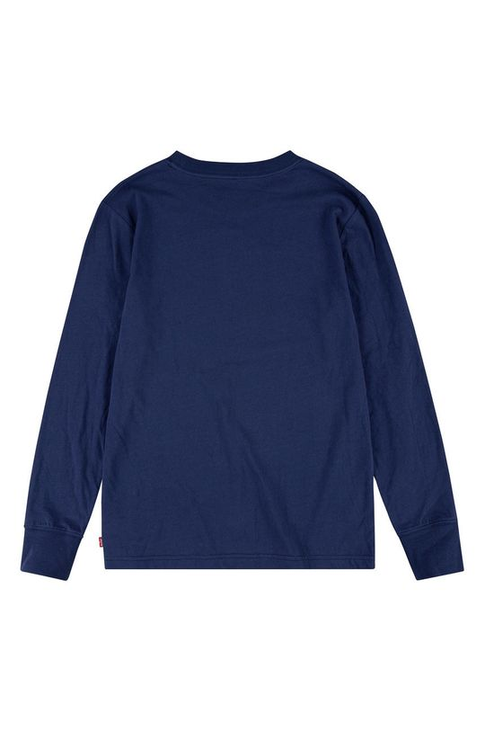 Levi's - Παιδικό βαμβακερό μακρυμάνικο σκούρο μπλε