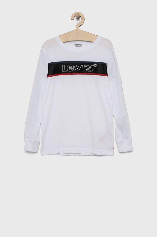 bílá Levi's - Dětské tričko s dlouhým rukávem Chlapecký