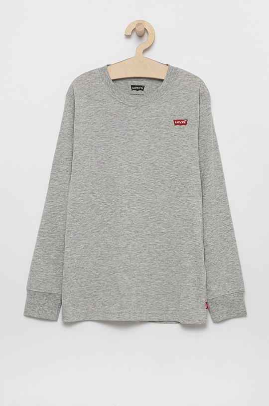 šedá Levi's - Dětské tričko s dlouhým rukávem Chlapecký