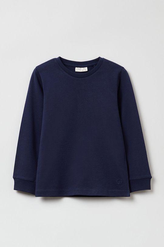 granatowy OVS - Bluza bawełniana dziecięca Chłopięcy