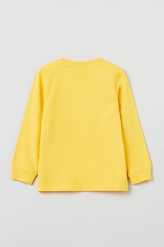 OVS - Longsleeve dziecięcy żółty
