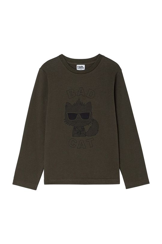 verde murdar Karl Lagerfeld - Longsleeve copii De băieți