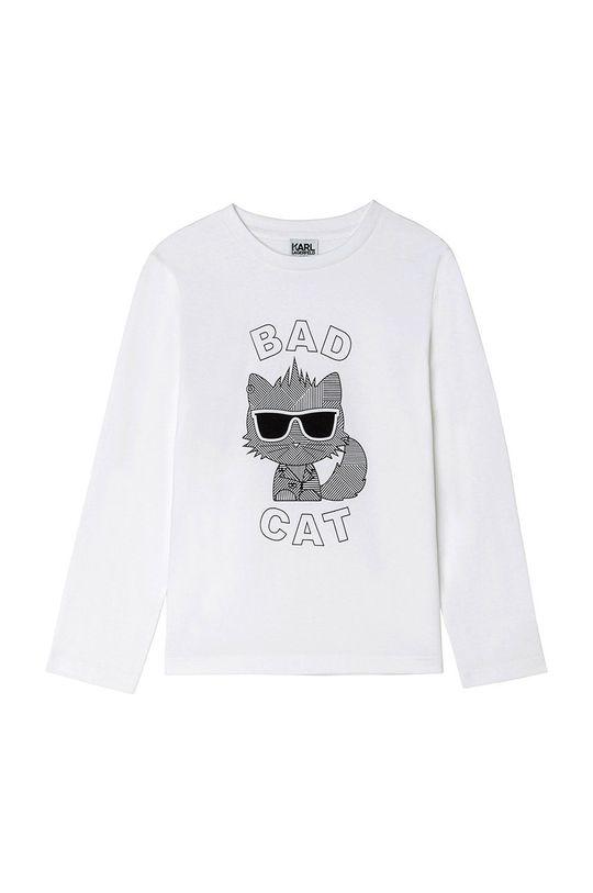 biela Karl Lagerfeld - Detské tričko s dlhým rukávom Chlapčenský