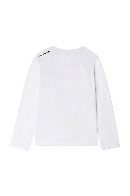 Karl Lagerfeld - Detské tričko s dlhým rukávom biela